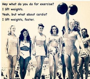 do you do cardio no i lift weights faster